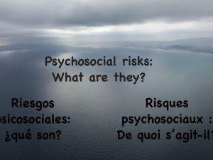 Facteurs de risques psychosociaux dans le contexte de l'audit